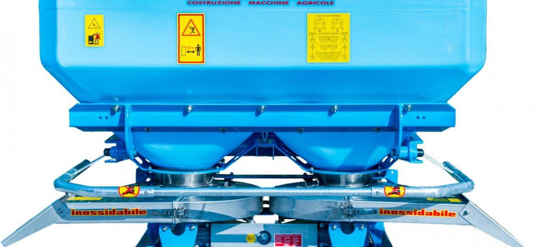 Spandiconcime doppiodisco SPW 1200 SERIE EXPO completo di doppioconvogliatore in acciaio inox